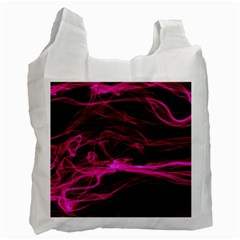 Abstract Pink Smoke On A Black Background Recycle Bag (Two Side)