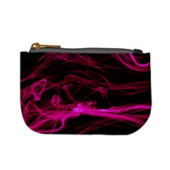 Abstract Pink Smoke On A Black Background Mini Coin Purses