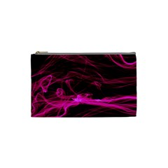 Abstract Pink Smoke On A Black Background Cosmetic Bag (Small)
