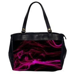 Abstract Pink Smoke On A Black Background Office Handbags