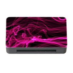 Abstract Pink Smoke On A Black Background Memory Card Reader With Cf