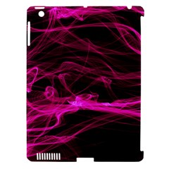 Abstract Pink Smoke On A Black Background Apple Ipad 3/4 Hardshell Case (compatible With Smart Cover)
