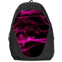 Abstract Pink Smoke On A Black Background Backpack Bag