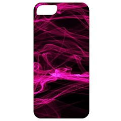 Abstract Pink Smoke On A Black Background Apple Iphone 5 Classic Hardshell Case