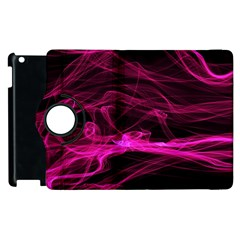 Abstract Pink Smoke On A Black Background Apple iPad 2 Flip 360 Case