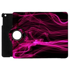 Abstract Pink Smoke On A Black Background Apple Ipad Mini Flip 360 Case