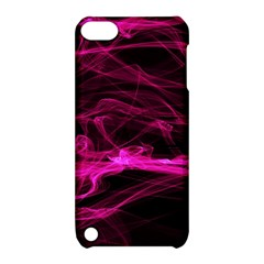 Abstract Pink Smoke On A Black Background Apple iPod Touch 5 Hardshell Case with Stand