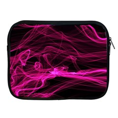 Abstract Pink Smoke On A Black Background Apple iPad 2/3/4 Zipper Cases
