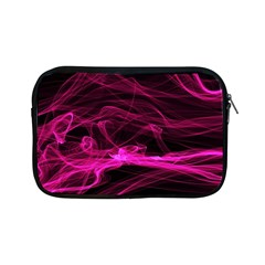 Abstract Pink Smoke On A Black Background Apple iPad Mini Zipper Cases