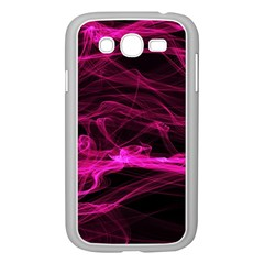 Abstract Pink Smoke On A Black Background Samsung Galaxy Grand DUOS I9082 Case (White)