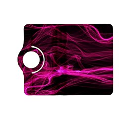 Abstract Pink Smoke On A Black Background Kindle Fire HD (2013) Flip 360 Case
