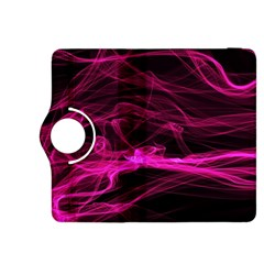 Abstract Pink Smoke On A Black Background Kindle Fire HDX 8.9  Flip 360 Case