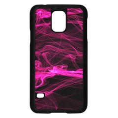 Abstract Pink Smoke On A Black Background Samsung Galaxy S5 Case (black)