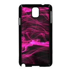 Abstract Pink Smoke On A Black Background Samsung Galaxy Note 3 Neo Hardshell Case (black)