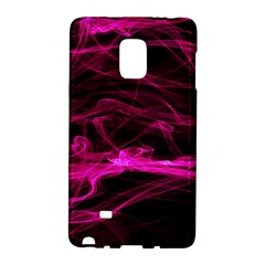 Abstract Pink Smoke On A Black Background Galaxy Note Edge