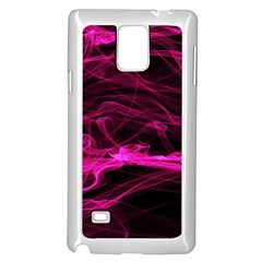 Abstract Pink Smoke On A Black Background Samsung Galaxy Note 4 Case (White)