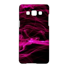 Abstract Pink Smoke On A Black Background Samsung Galaxy A5 Hardshell Case