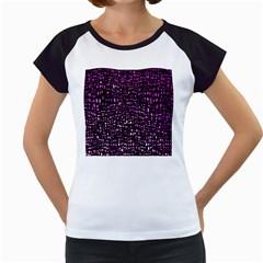 Purple Denim Background Pattern Women s Cap Sleeve T