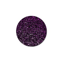 Purple Denim Background Pattern Golf Ball Marker (4 pack)
