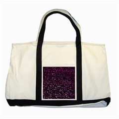 Purple Denim Background Pattern Two Tone Tote Bag