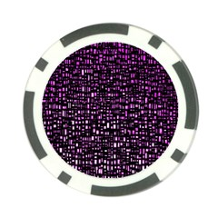 Purple Denim Background Pattern Poker Chip Card Guard