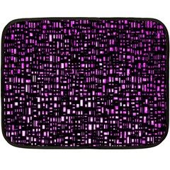 Purple Denim Background Pattern Double Sided Fleece Blanket (Mini)