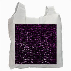 Purple Denim Background Pattern Recycle Bag (two Side)