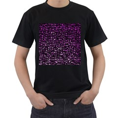 Purple Denim Background Pattern Men s T-Shirt (Black)