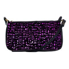 Purple Denim Background Pattern Shoulder Clutch Bags