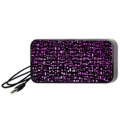 Purple Denim Background Pattern Portable Speaker (Black)