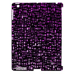 Purple Denim Background Pattern Apple iPad 3/4 Hardshell Case (Compatible with Smart Cover)