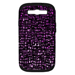 Purple Denim Background Pattern Samsung Galaxy S III Hardshell Case (PC+Silicone)