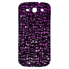Purple Denim Background Pattern Samsung Galaxy S3 S Iii Classic Hardshell Back Case