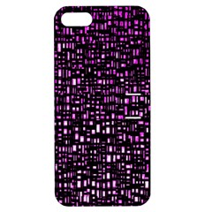 Purple Denim Background Pattern Apple iPhone 5 Hardshell Case with Stand