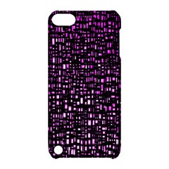 Purple Denim Background Pattern Apple Ipod Touch 5 Hardshell Case With Stand