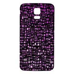 Purple Denim Background Pattern Samsung Galaxy S5 Back Case (White)