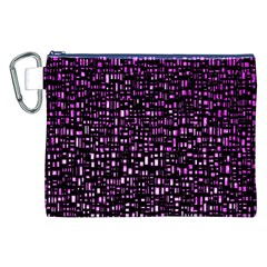Purple Denim Background Pattern Canvas Cosmetic Bag (XXL)