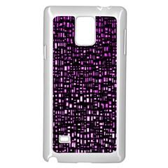 Purple Denim Background Pattern Samsung Galaxy Note 4 Case (white)
