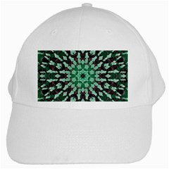 Abstract Green Patterned Wallpaper Background White Cap