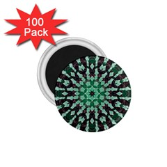 Abstract Green Patterned Wallpaper Background 1 75  Magnets (100 Pack)