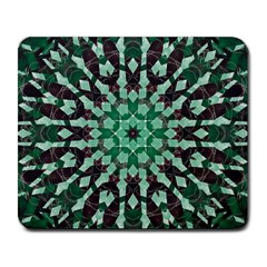 Abstract Green Patterned Wallpaper Background Large Mousepads