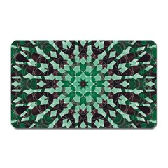 Abstract Green Patterned Wallpaper Background Magnet (Rectangular)