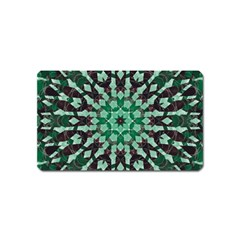 Abstract Green Patterned Wallpaper Background Magnet (Name Card)