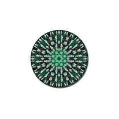 Abstract Green Patterned Wallpaper Background Golf Ball Marker (4 Pack)