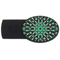 Abstract Green Patterned Wallpaper Background USB Flash Drive Oval (2 GB)