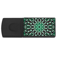 Abstract Green Patterned Wallpaper Background USB Flash Drive Rectangular (1 GB)