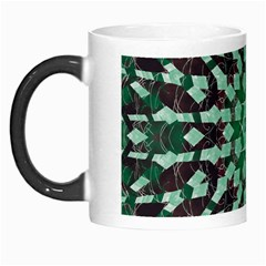 Abstract Green Patterned Wallpaper Background Morph Mugs