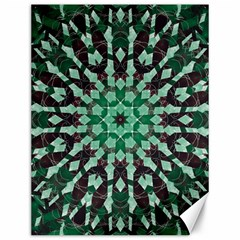 Abstract Green Patterned Wallpaper Background Canvas 12  X 16