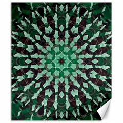 Abstract Green Patterned Wallpaper Background Canvas 20  x 24