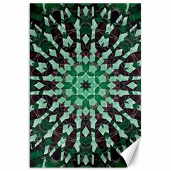Abstract Green Patterned Wallpaper Background Canvas 20  x 30